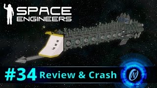 W40k Overlord Battlecruiser Review and Crash! Space Engineers Part 34