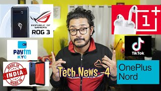 Tech ನ್ಯೂಸ್: ASUS ROG Phone 3, OnePlus Pods, Lava Z61 Pro, 89 apps Ban, OnePlus Nord, Realme C11