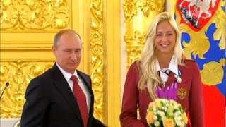 Russian President Putin Presents Awards to London 2012 Golden Paralympians