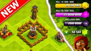 UNLOCKING THE NEW UPDATE! GEMMING *NEW* MAXED BOMB TOWER, XBOW, MORTAR, & TESLA IN CLASH OF CLANS!