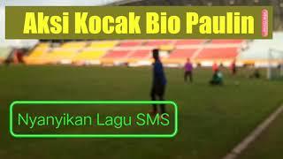 Aksi kocak Bio Paulin bawakan lagu SMS sambil latihan