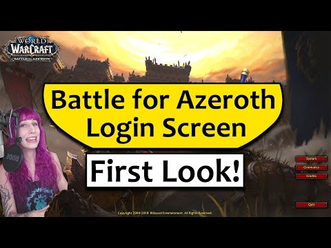 Xxx Mp4 BfA Login Screen Reaction And First Impressions Of The Battle For Azeroth Login Screen 3gp Sex