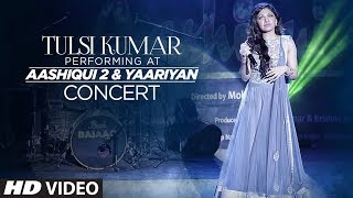 Tulsi Kumar performing at Aashiqui 2 and Yaariyan concert