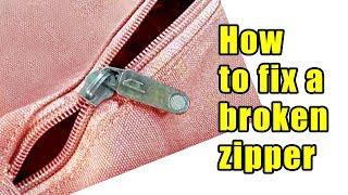How to fix a broken zipper or separated zipper