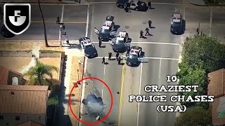 10 Craziest Police Chases Caught On Camera (USA)