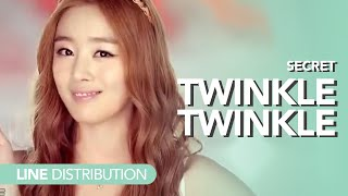 시크릿 Secret - Twinkle Twinkle | Line distribution