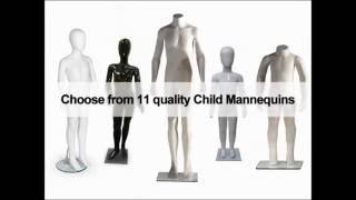 Male, Female & Child Mannequins