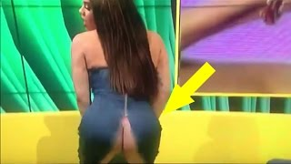 Woman's dress rips on LIVE TV WHEN SHE TRIES TO TWERK!!!