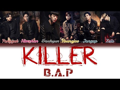 B.A.P (비에이피) - Killer | Han/Rom/Eng | Color Coded Lyrics |