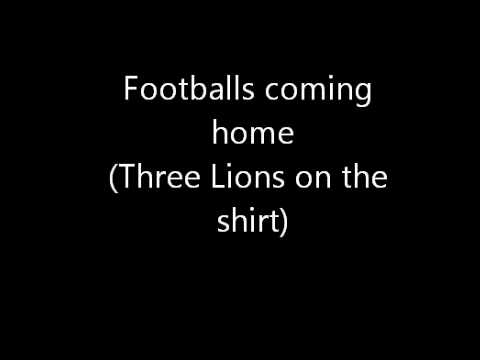Footballs coming home (Three Lions on the shirt)