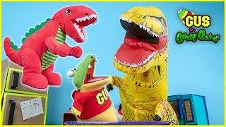Giant Blow Up Roaring Dinosaurs + Ryan