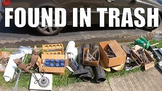 Crazy Things People Throw in The Garbage! Trash Picking Ep. 188