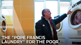 Pope Francis opens a laundromat
