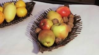 Тарелка - ёжик для фруктов