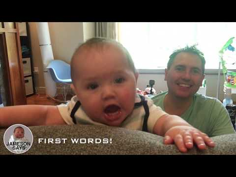 Surprise... He Speaks! Baby's first words caught on video!!!