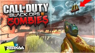 INSANE MCDONALDS ZOMBIES MAP WITH EASTER EGGS (Black Ops 3 Custom Zombies)