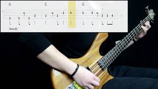Van Morrison - Brown Eyed Girl (Bass Only) (Play Along Tabs In Video)