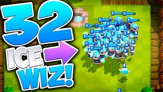 Clash Royale 32 ICE WIZARDS | World Record!