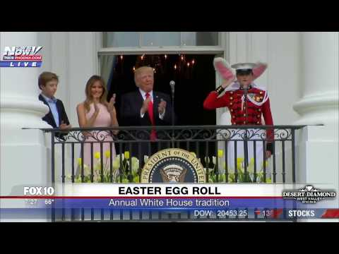 FNN White House Easter Egg Roll feat. President Trump First Lady and Barron Trump