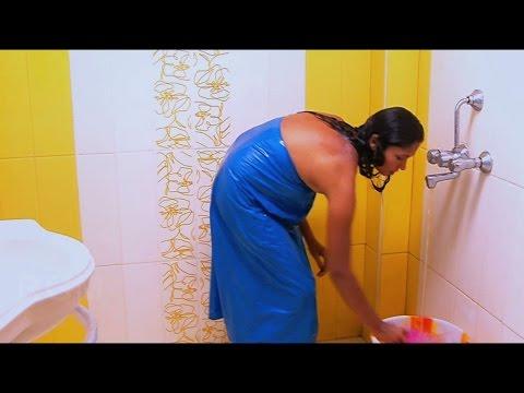 Tamil Aunty Hidden Camera Bathing Scene - Romantic Tamil Movie Scene