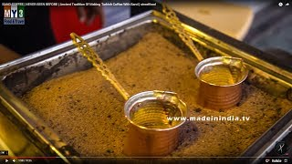 SAND COFFEE | NEVER SEEN BEFORE | Ancient Tradition Of Making Turkish Coffee With Sand | streetfood