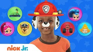 Play Junior Dress Up w/ PAW Patrol, Blaze, Bubble Guppies & More Favorites! | Nick Jr. Style