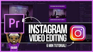 Premiere Pro Instagram Video Editing Tutorial