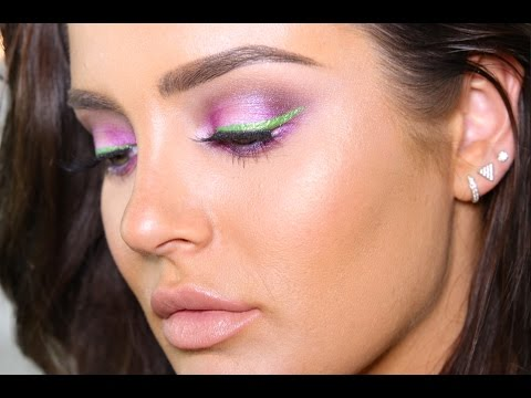 Playing with Colour!! Purple & Green Eye Makeup feat. BH Cosmetics