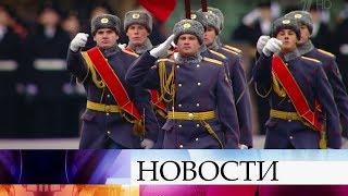 НаКрасной площади прошел торжественный марш впамять опараде 7 ноября 1941 года.