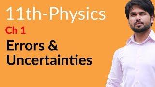 FSc Physics part 1, Ch 1 - Errors & Uncertainties - 11th Class Physics
