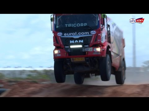 Dakar 2017 Arrival in Paraguay Eurol VEKA MAN Rally Team