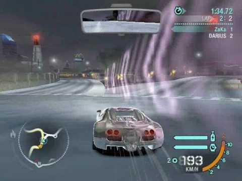 NFS Carbon Bugatti Veyron vs. Darius