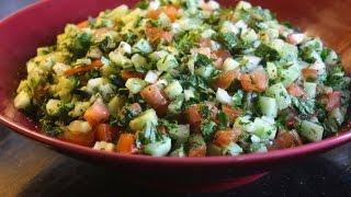 آموزش سالاد شیرازی در سه سوت - How To Make Very Easy Shirazi Salad
