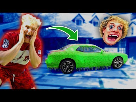 SUPER SLIME PRANK ON MY BROTHERS CAR