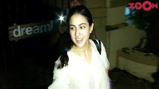 Sara Ali Khan Waves And Thanks Her Fans In Mumbai