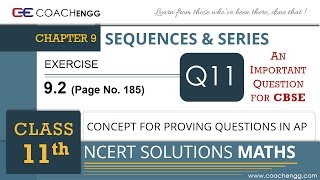 SEQUENCES AND SERIES - Exercise 9.2 Q11 - Class 11 MATHS NCERT Solution