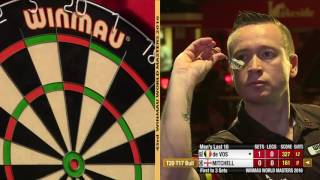 Darts World Masters 2016 Last 16 Mitchell vs de Vos