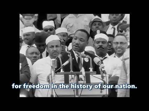 I Have a Dream speech by Martin Luther King .Jr HD subtitled Remastered