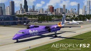 AEROFLY FS 2 Flight Simulator I Dash-8 Q400 ► Erstflug in Chicago Meigs Field [Deutsch/HD]