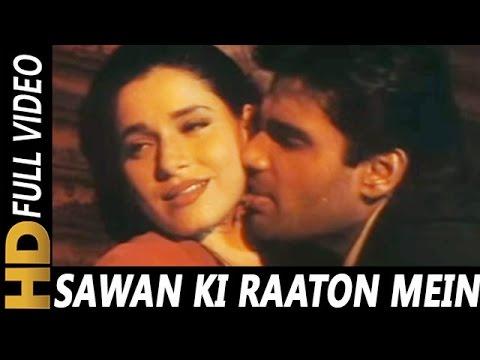 Sawan Ki Raaton Mein Baaton Hi Baaton Mein | Abhijeet, Kavita Krishnamurthy | Ek Tha Raja 1996 Songs