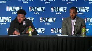 Giannis Antetokounmpo & Middleton Postgame Interview | Celtics vs Bucks - Game 4 | 2018 NBA Playoffs