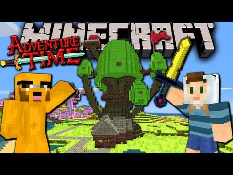 Minecraft Adventure Time Map Quest with Jake in Ooo Ep.1 Treehouse & Candy Kingdom