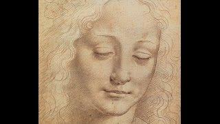 Como dibujar un rostro femenino estilo Da vinci (time-lapse)