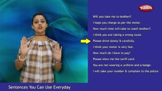 Hindi Sentences You Can Use Everyday | In a Taxi, Rickshaw | English Sentences You Can Use Everyday