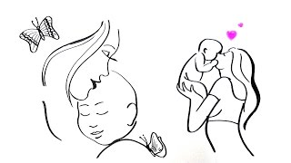 Mother's day drawing ideas