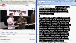 TRANSCRIPT OF VIDEO / AUDIO - search engine optimization