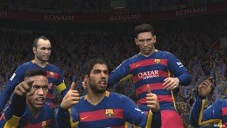 Pro Evolution Soccer 2016 PC FC Barcelona VS Real Madrid Gameplay