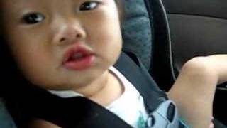 Adorable 1 year old singing.