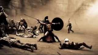 300 (4/5) Best Movie Quote - Leonidus Slow Motion Fight Scene (2006)