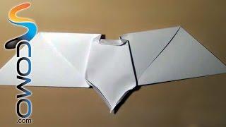 Cómo hacer un murcielago con papel